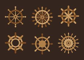 Ships Wheel Pack Vector