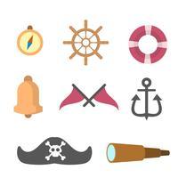 vectores de marinero plano