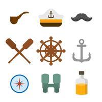 vettori di marinai piatti