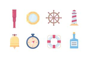 Marine and ship icons vector
