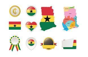 Pack de vectores de Ghana