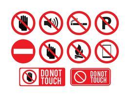Non toccare segno vettoriale gratuito