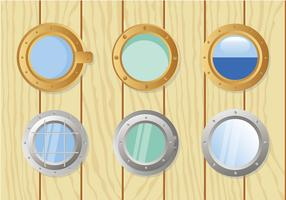 Schip Windows Set Gratis Vector