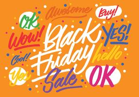 Black Friday Brush lettrage vecteur