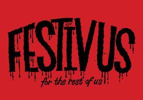Festivus Lettering Vector