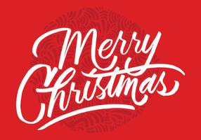 Merry Christmas Brush Script Vector