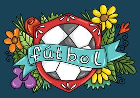 Fútbol Banner Badge Vector