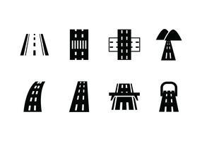 Icono de vector de carretera