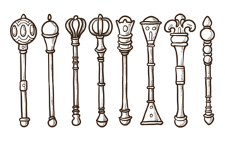 Sceptre Icons Vector