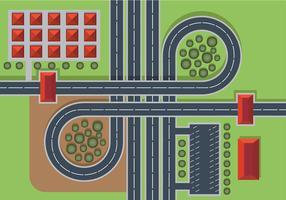 Highway Top View Free Vector