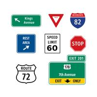 Highway Sign Vecteur gratuit