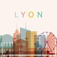 silhueta da cidade de lyon