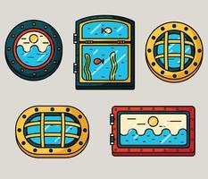 Schiffsfenster Vector Pack