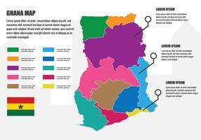 Mapa de Ghana infografía