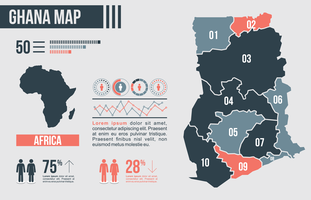 Ghana Map Infographic vector