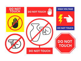 Set Of Do Not Touch Symbol Vector