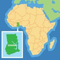 Ghana Kaart