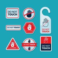 Livre não toque no vetor da etiqueta etiqueta