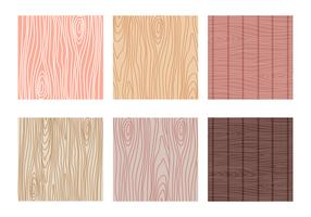 Variante der Woodgrain Muster Vector Collection