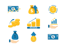 Revenue Icons Vector