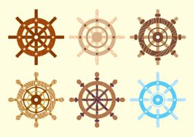 Schiffsrad-Vektor-Pack