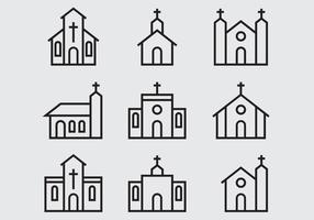 Church And Abbey Icon vector