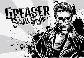Greaser Boy Illustration