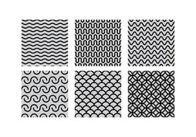 Squiggle Seamles Pattern Set Free Vector