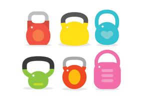 Kettle bell vector set