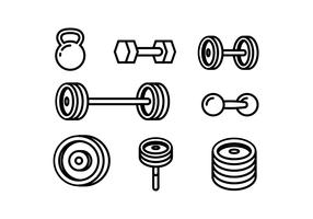 Lift Weight Line Icon Free Vector