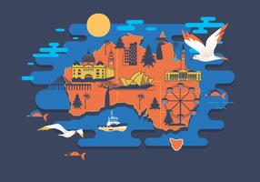 Melbourne Map Vector