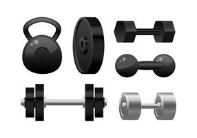 Weight Lift Equipment Vector