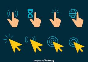 Mouse Over Cursor Collection Vector