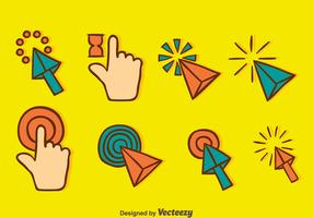Handgetekende Vector Cursor Collectie Vector