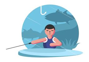 fiske damm vektor