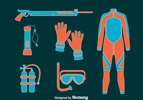 Spearfishing element Vector