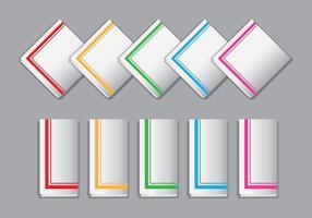 Vecteurs de serviettes lumineuses