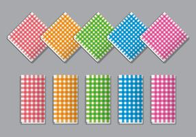 Plaid Napkin Vector Set