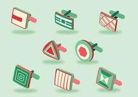 Cufflink Design Vector Pack