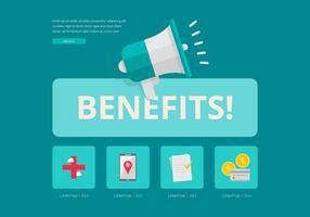 Vetor de painel de benefícios do usuário