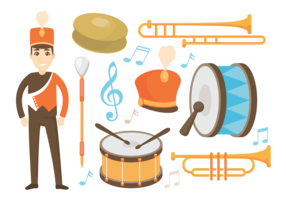 Marching Band Pictogrammen Vector