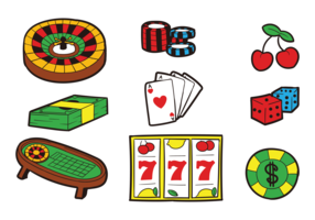 Roulette Table Icons Vector