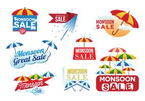 Monsoon Sale Banner Vector