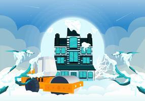 Schnee-Tag-Vektor