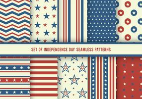 Independence Day USA Patterns Vector