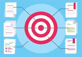 Diseño plano gratuito Vector Target