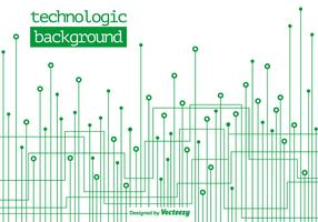 Technologic Green Background - Vector