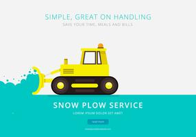 Snow Plow Service Brochure Template