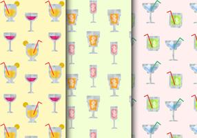 Seamless Cocktail Drinks Patterns