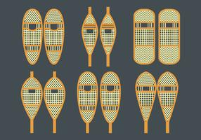 Snowshoe Vector Icons Set